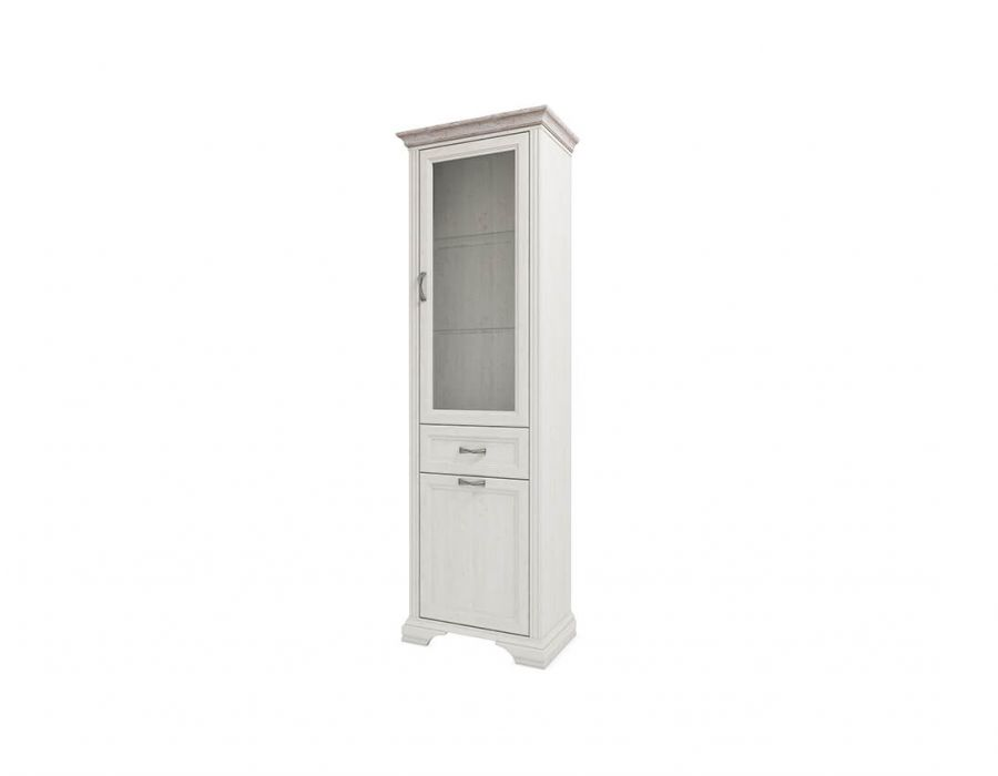 Шкаф с витриной Анрэкс Монако 1V1D1S, дуб