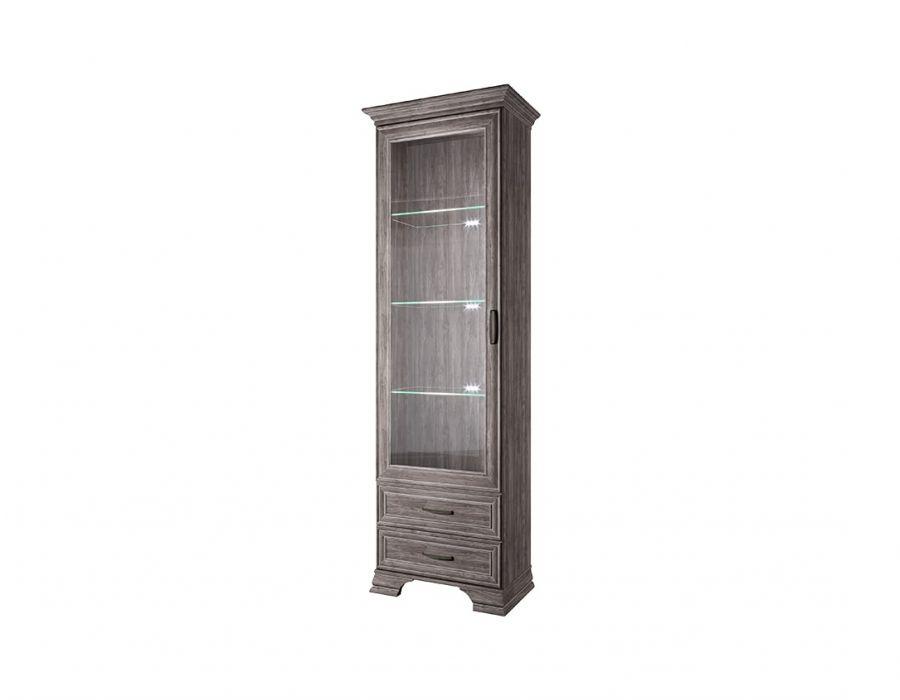 Шкаф с витриной Анрэкс Тиффани 1V2S, орех