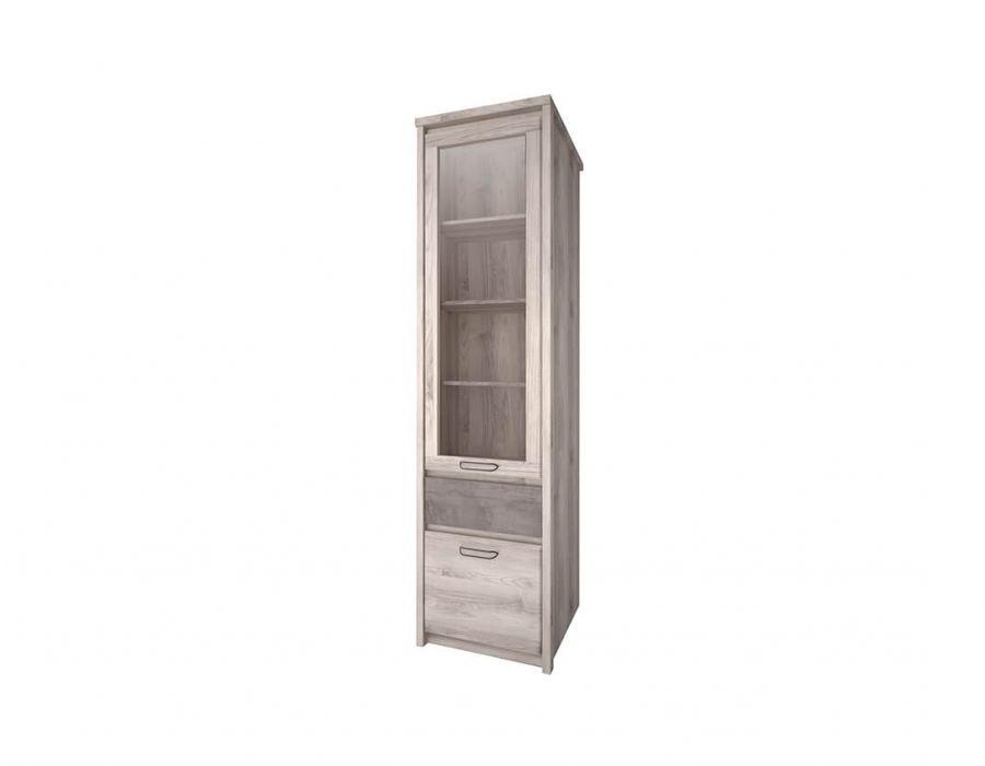 Шкаф с витриной Анрэкс Джаз каштан 1V1D1S, каштан найбори