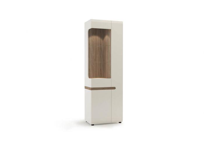 Шкаф с витриной Анрэкс Линэйт 3D / TYP 01L, белый