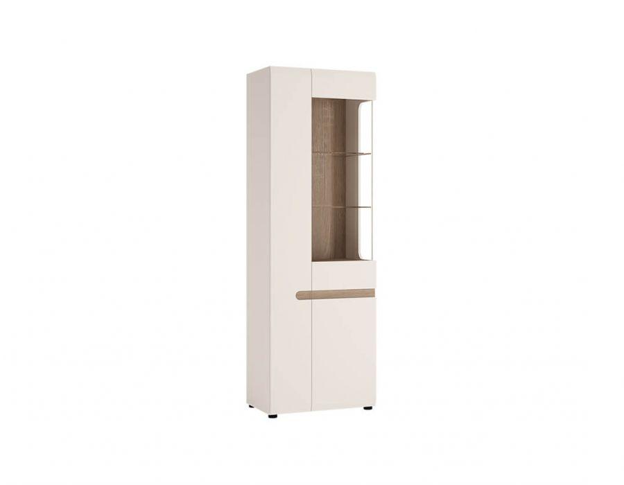 Шкаф с витриной Анрэкс Линэйт 3D / TYP 01P, белый