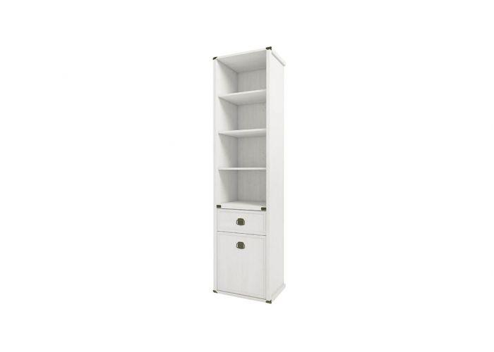 Шкаф открытый Анрэкс Магелан сосна 1D1S, белый