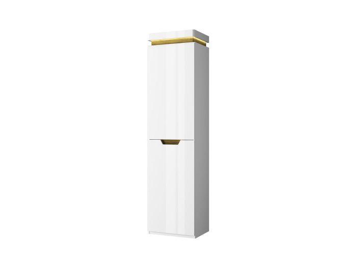 Шкаф 1D, TORINO, цвет белый/Дуб наварра, шт