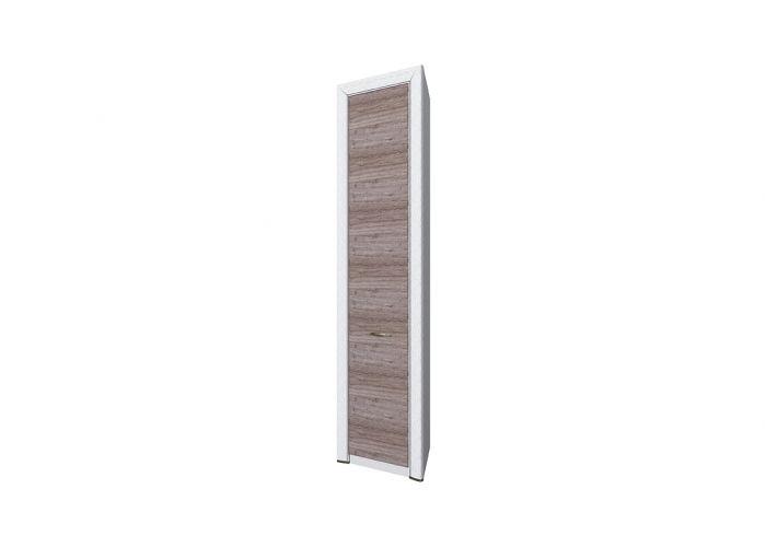 Шкаф 1DT P, OLIVIA, цвет вудлайн крем/дуб анкона