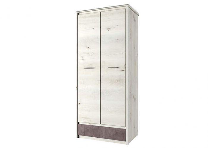 Шкаф 2DG1S, BJORK, цвет ольха полярная/оникс, шт