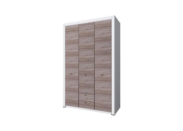 Шкаф 3D2S без зеркала, OLIVIA, цвет вудлайн крем/дуб анкона