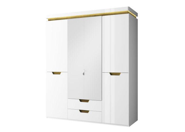 Шкаф 4DG2S Z, Торино, цвет белый/Дуб наварра, шт