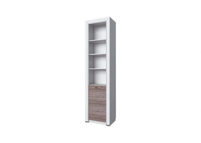 Шкаф открытый 1D, OLIVIA, цвет вудлайн крем/дуб анкона