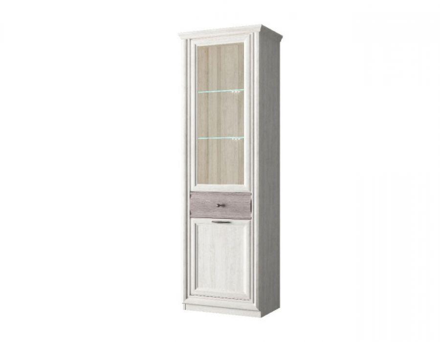 Шкаф с витриной 1V1D1S, BORDO, цвет орех элия светлый/Эльмо, шт