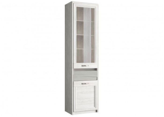 Шкаф с витриной 1V1D1S, MODENA, цвет орех элия светлый/Ламбер грин, шт