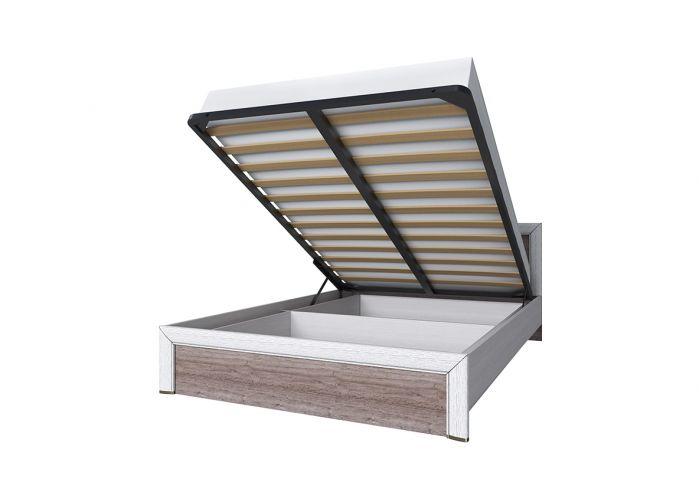 Кровать 140 с подъемником, OLIVIA, цвет вудлайн крем/дуб анкона