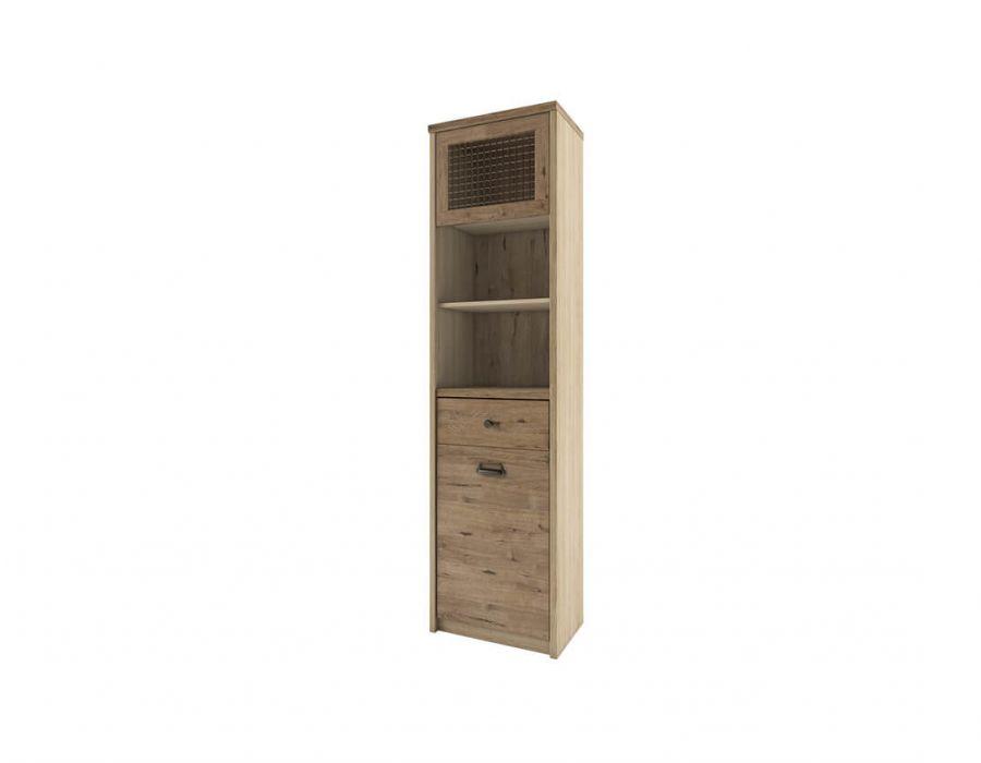 Шкаф с витриной 1V1D1S2N/D1 Анрэкс Дизель, мадура/веллингтон