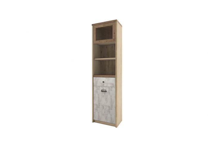 Шкаф с витриной 1V1D1S2N/D2 Анрэкс Дизель, мадура/веллингтон