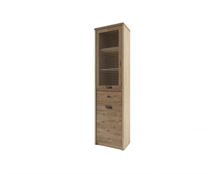 Шкаф с витриной 1V1D1S/D1 Анрэкс Дизель, мадура/веллингтон