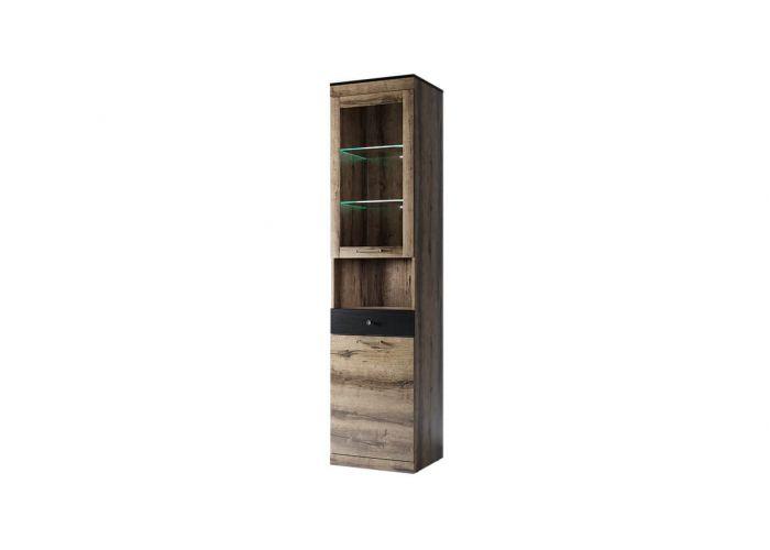 Шкаф с витриной Анрэкс Джаггер 1V1D1SN, дуб