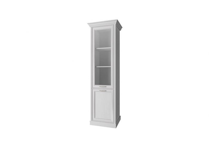 Шкаф с витриной Анрэкс Тэйлор 1V1D, белый