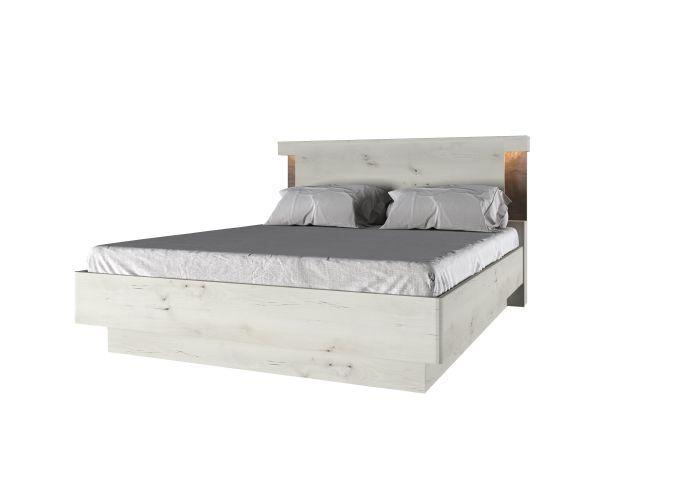 Кровать 160 P с подъемником, BJORK, цвет ольха полярная/оникс, шт