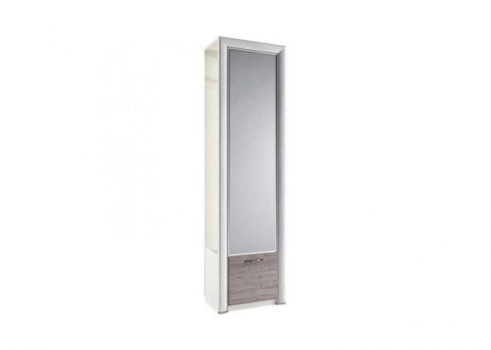 Шкаф 1DZ, OLIVIA, цвет вудлайн крем/дуб анкона
