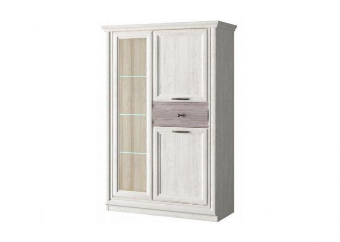Шкаф с витриной 1V2D1S, BORDO, цвет орех элия светлый/Эльмо, шт