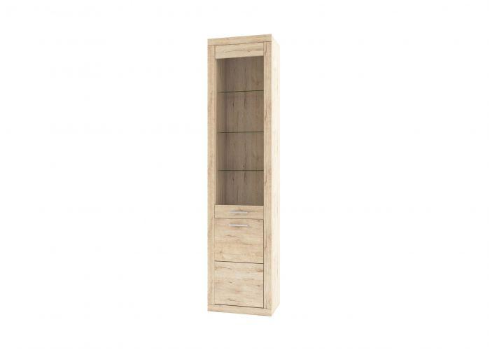Шкаф-витрина 1D1V OSKAR , цвет дуб Санремо