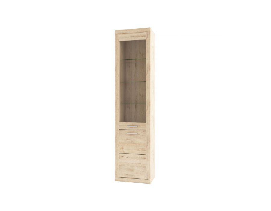 Шкаф-витрина 1D1V Оскар , цвет дуб Санремо