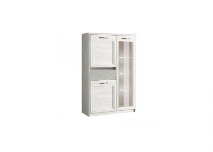 Шкаф с витриной 1V2D1S, MODENA, цвет орех элия светлый/Ламбер грин, шт