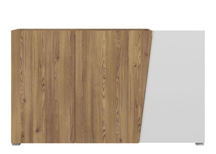 Тумба Rauma KOM3D, лиственница сибирская золотая / белый