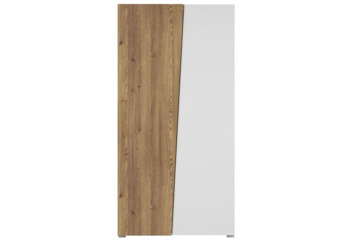 Шкаф 2-х створчатый Раума SZF2D, лиственница сибирская золотая / белый