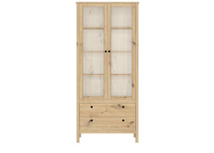 Шкаф-витрина с подсветкой Хельга REG2W2S,  дуб артизан