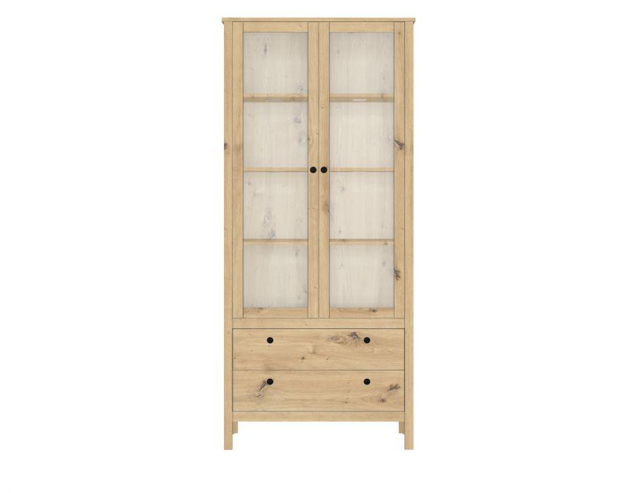 Шкаф-витрина Хельга REG2W2S, дуб артизан