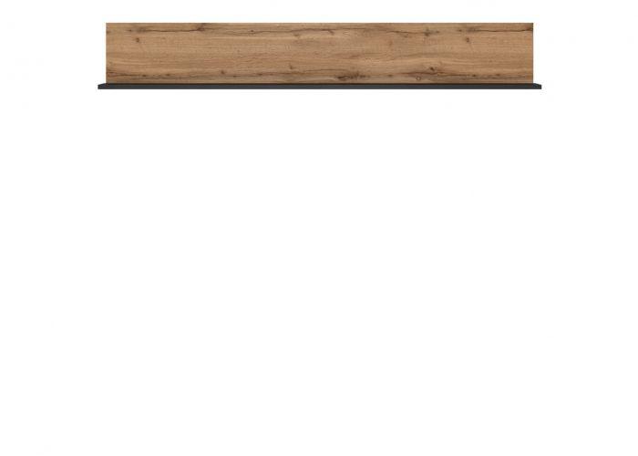 Полка Лофт, P/150, дуб вотан/черный