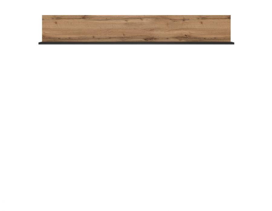 Полка Loft, P/150, дуб вотан/черный