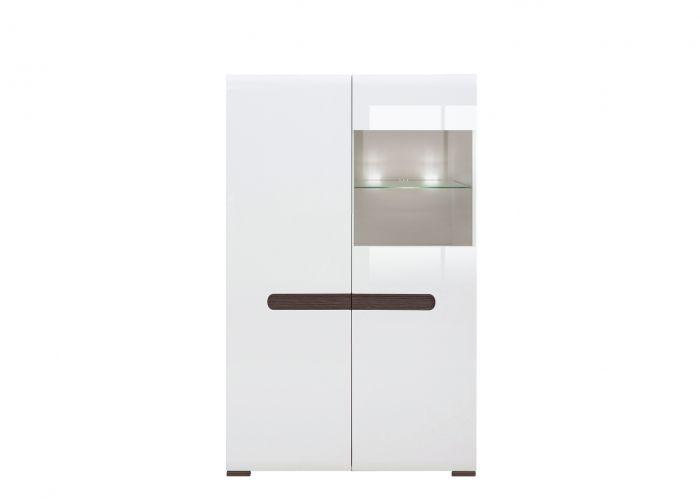 013 Ацтека шкаф S205-REG1W1D/14/9 Белый блеск /BRW