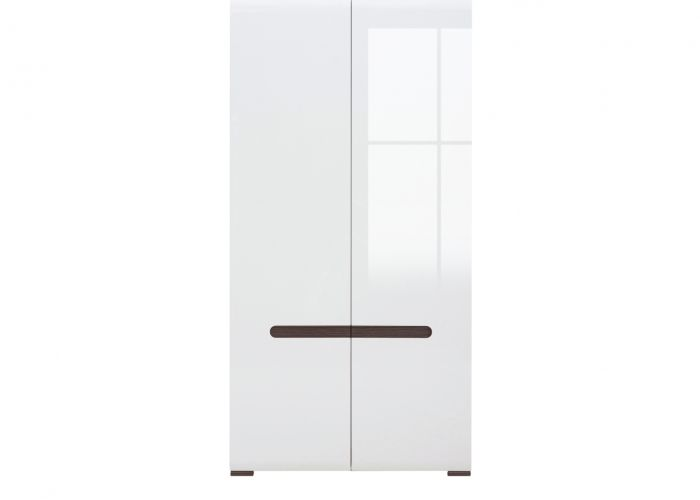 Шкаф 2-х створчатый Azteca, s205-szf2d/21/11, белый блеск