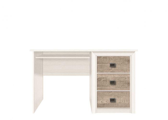 Стол письменный Коен, BIU 130, ясень снежный/сосна натуральная