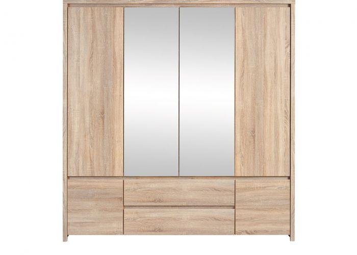 Шкаф 4-х створчатый Каспиан, SZF6D2S, дуб сонома