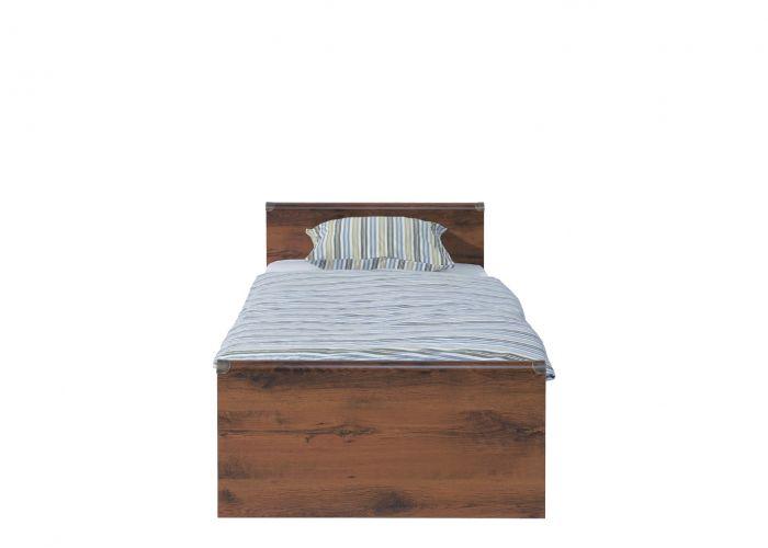 Кровать односпальная Индиана jloz90 без матраса,дуб саттер с основанием