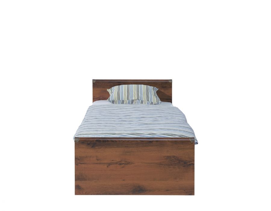 Кровать односпальная Indiana  jloz90 без матраса,дуб саттер без основания
