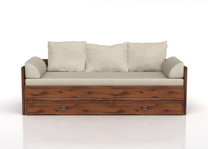 Тахта-кровать раскладная Индиана jloz 80/160 с матрасом и подушками,дуб саттер