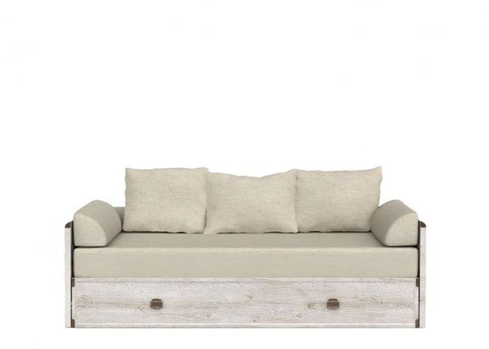 Тахта-кровать раскладная Индиана jloz 80/160 с матрасом и подушками,сосна каньон