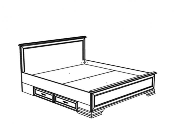 Кровать двуспальная с выдвижными ящиками Кентаки, loz/180, белый