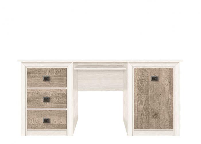 006-2 Коен стол письменный BIU/170 Ясень снежный/Сосна натуральная /BRW