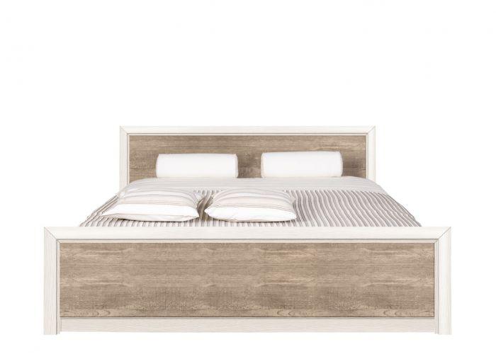 Двуспальная кровать Koen, LOZ/160, ясень снежный/сосна натуральная без основания