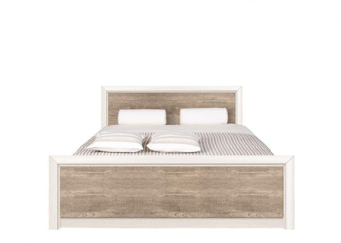 Кровать Koen, LOZ/140, ясень снежный/сосна натуральная без основания