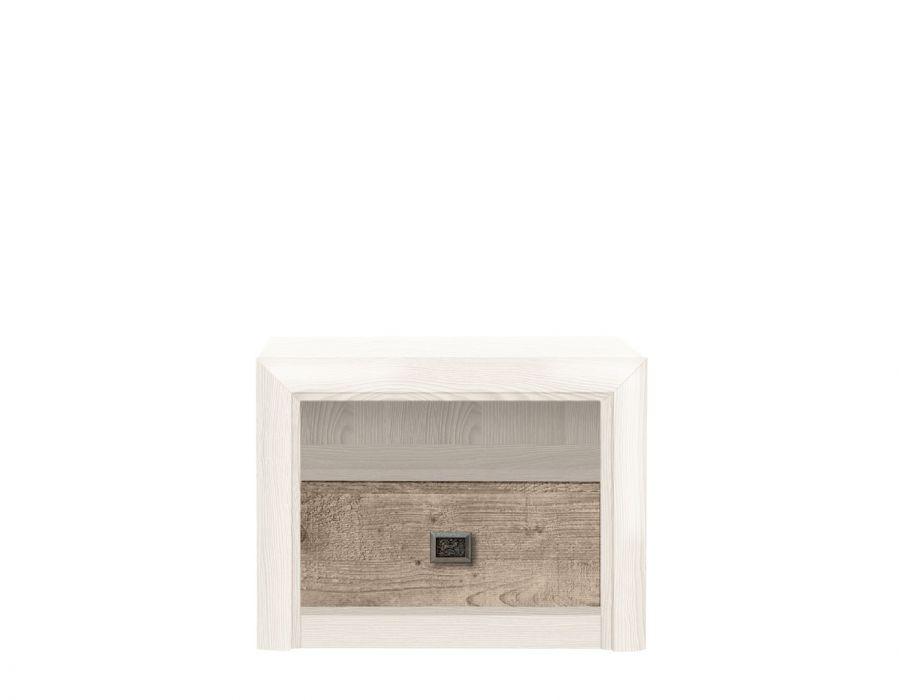 Прикроватная тумба  Koen, KOM 1S, ясень снежный/сосна натуральная