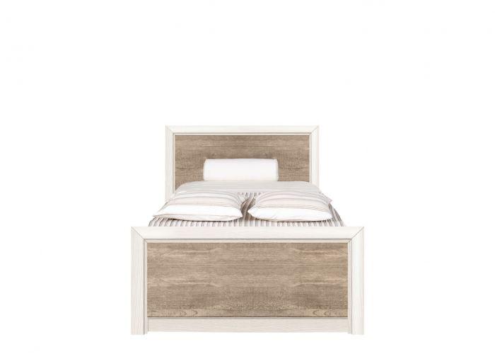Кровать Коен, LOZ/90, ясень снежный/сосна натуральная с основанием