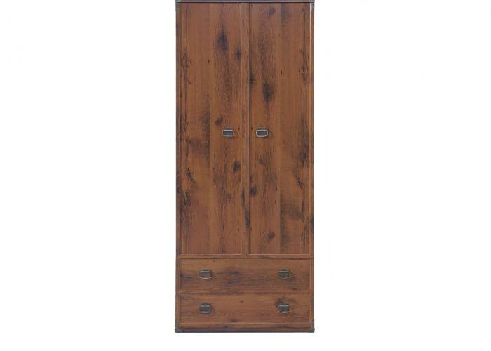 Шкаф 2-х створчатый с полками Индиана jszf 2d2s, дуб саттер