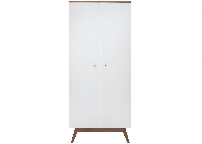 Шкаф 2-х створчатый Heda SZF2D, лиственница сибирская золотая / белый блеск
