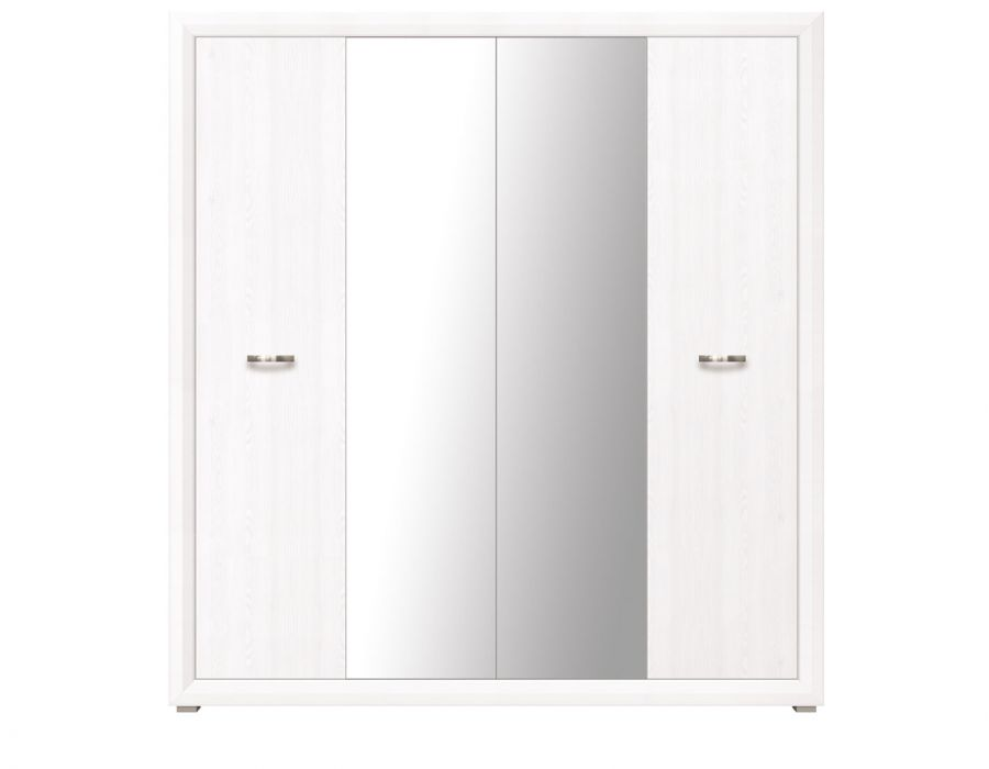 Шкаф 4-х створчатый Мальта SZF4D, лиственница сибирская / орех лион