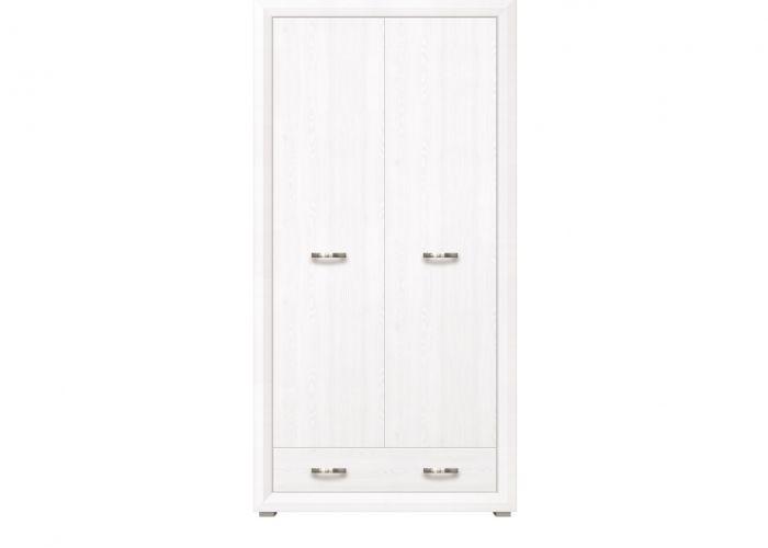 Шкаф 2-х створчатый Мальта SZF2D1S, лиственница сибирская / орех лион